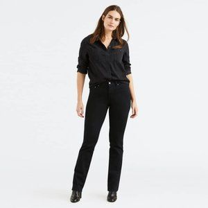 Levi's 505 Straight Leg Jeans in Black Ink NWT